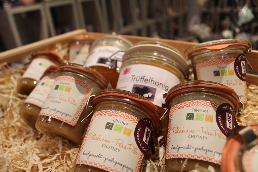 Südtirol Palabirne zu Kulinarik Chutney verarbeitet