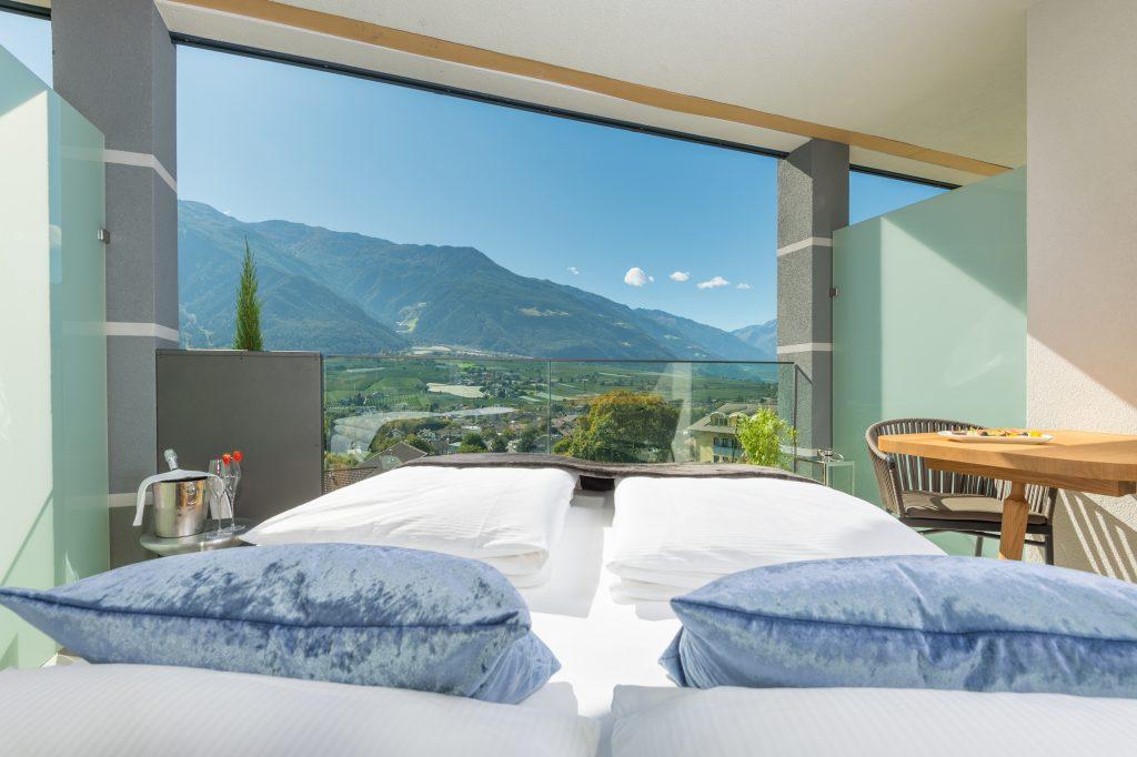 im Sommerurlaub in Südtirol draußen schlafen
