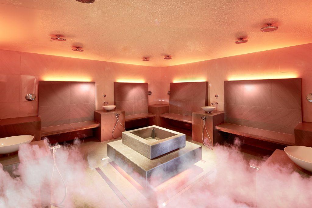 Dampfbad im Wellnesshotel in Suedtirol